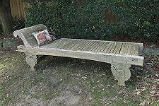 Vintage Solid Timber Daybed~Chair~Garden Patio Chaise Lounge Seat~Bench~Exotic