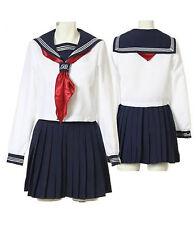 Japanese Japan School Girl long-sleeved Uniform Cosplay Costume New T001