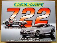 SCALEXTRIC 1/32 C2783A MERCEDES BENZ 722 MILLE MIGLIA TWO CAR PACK, NIB