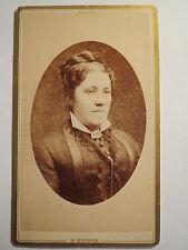 Aussig - Frau im Kleid - Portrait / CDV