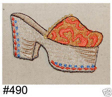 1PC~FUNKY PLATFORM SHOE~IRON ON EMBROIDERED PATCH