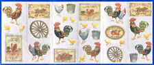 KITCHEN, ROOSTER, CHICK, Farm  Set of 31 Wallpaper Border Stickers SP80087CJ