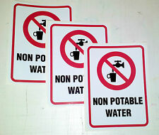 3 compliance stickers NON POTABLE WATER for DAM, BORE, RECYCLED watering systems