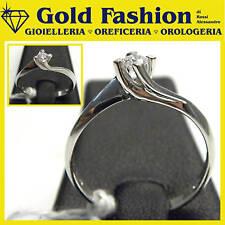 Anello in oro bianco 18 kt e diamante - ct 0,16-GF5048b