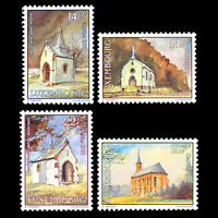 "Luxembourg 1991 - Chapels ""Charity Issue"" Architecture Art - Sc B379/82MNH"