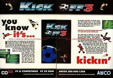 "Kick Off 3 ""ANCO"" 1994 Double Page Magazine Advert #5808"