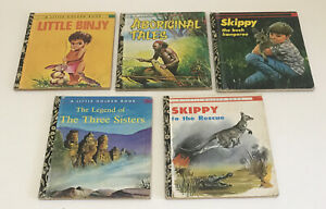 5 X Little Golden Books Skippy Little Binjy As Pictured