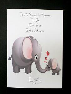 Handmade Personalised Mummy To Be - Baby Shower Card