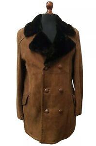 Vintage David Conrad Sheepskin Coat Size Medium 42 Chest Specialist Dry Cleaned