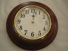 "London Clock Co 8 1/4"" Dark Wood Wall or Mantel Clock-NIB"