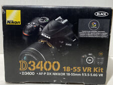 Nikon D3400 18-55 VR Kit New In Opened Box. Shipped USPS Priority.
