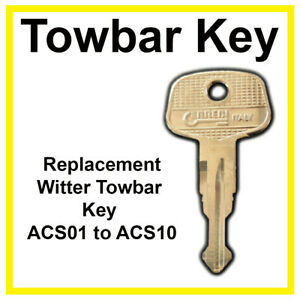 Witter  or Tow Trust Towbar Key Cut to Code ACS Series (ACS01 to ACS10)