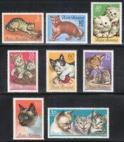 Romania 1965 MNH Mi 2387-2394 Sc 1729-1736 Cats .Persian,siamese,European cats**
