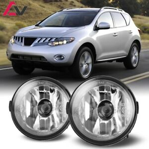 For Nissan Murano 09-12 Clear Lens Pair Bumper Fog Light Lamp Replacement