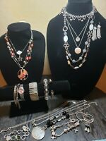 Silver Tone Jewelry (Lot of 18 Pieces) Lot #2