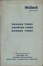 More details for vintage mullard data sheets trigger tubes counter number 1963 c6.3361