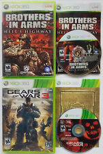 MICROSOFT XBOX 360 LIVE BROTHERS IN ARMS HELLS HIGHWAY GEARS OF WAR 3 VIDEO GAME