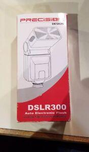Precision DSLR 300 Auto Electronic Flash Nikon and Canon Compatible, Free Ship