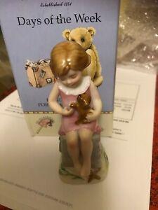 Royal Worcester Wednesday Girl Porcelain figurine