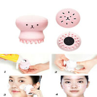 Wash Face Exfoliating Cute Pink Octopus Brush Cleaning Pad Facial SPA Skin Tool