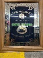Rare VTG Henry Weinhard's Beer Private Reserve Seahawks Football 1988 Champs