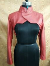 Women 100% Genuine Lambskin Leather Crop Moto Bolero Shrug Biker Jacket Slim-fit