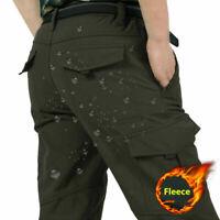Mens Winter Warm Thick Tactical Fleece Lined Pants Soft Combat Pants Trousers ~