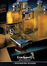 Publicité Advertising 1988  Parfum  CACHAREL  pour l'homme  Eau de toilette