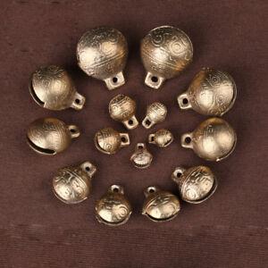 9~28mm Bronze Tibetan Brass Bells Beads Craft Charms Metal Ethnic With Loop New