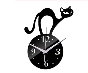 Wall Clock for decoration cat design new fashion and stylish gift for home 3D