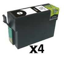 4 Black XL Ink Cartridges for Epson WorkForce WF-3620DWF WF-7110DTW WF-7620DTWF