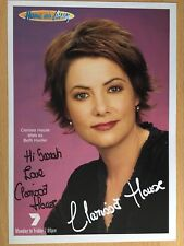 CLARISSA HOUSE *Beth* HOME AND AWAY Hand Signed Cast Fan Card