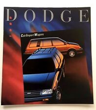1989 Dodge Colt Wagon and Vista 4wd 24-page Car Sales Brochure Catalog