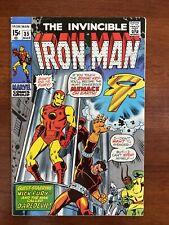 Iron Man #35 (1971) VF+ 8.5 Nick Fury, Daredevil & Madame Masque App 🔥NICE!🔥