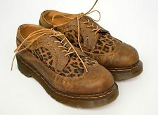 🔥 DR. MARTENS 🔥 Women's Leopard Print Oxford Brogue Shoes EU 36/ US 5/ UK 3