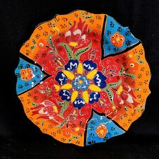 Hand Painted Turkish Iznik Tulip & Floral Pattern 5 Inch Ceramic Plate