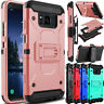 For Samsung Galaxy S8 Active G892A Hybrid Holster Clip Stand Armor Case Cover