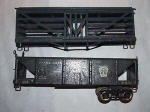 IVES Prewar Wide or Standard Gauge 194 Hopper & 193 Stock! Parts or Restore! PA