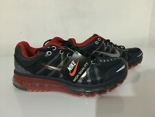 NEW SILVER NIKE AIR MAX RUNNING TG EUR 44 BLU E ROSSE NUOVE