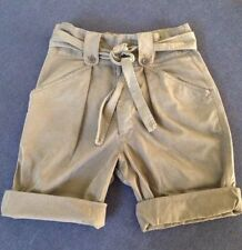 Cotton Mid-Rise Cargo Shorts for Women