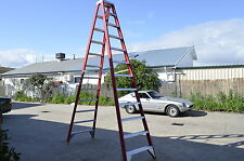 Double sided Fibreglass Step Ladder 3.5M 12 feet foot ft 150KG AS/NZS New Yellow