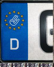 2 Stück The Shocker Euro Kennzeichen Nummernschild Aufkleber Plakette 21mm
