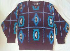 Ladies Panhandle Slim Sweater Western Southwest Print Boho Ski Retro Size M VGC