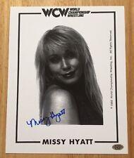 MISSY HYATT Signed Autograph 8x10 Photo WCW WWF WWE AWA TNA ECW ROH HOLOGRAM COA