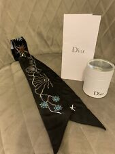 Christian Dior Mitzah Scarf In Box Black
