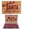 Santa Stop Here Elf Coir Door Mat Vintage Chic Christmas Front Decoration