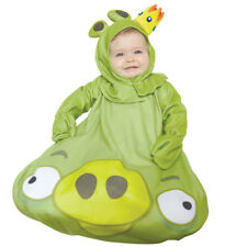 Rovio Angry Birds Green King Pig Infant 0-9m Costume Toddler Baby Halloween