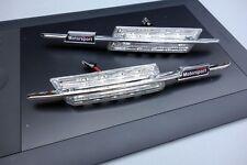 CLIGNOTANTS LATERAUX LED BMW SERIE 5 E60 BERLINE TOUS 03-10 CHROME MOTOSPORT
