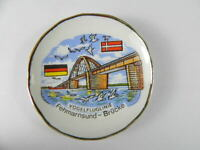 Magnet Teller Porzellan,6 cm,Fehmarnsbrücke,Vogelfluglinie,Souvenir,neu