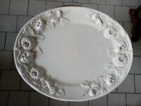 Vassoio fatto a mano ceramica artistica ELIOS Bassano del Grappa centrotavola 50